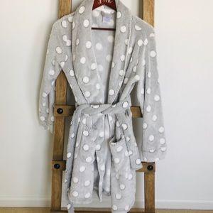 Grey fluffy robe